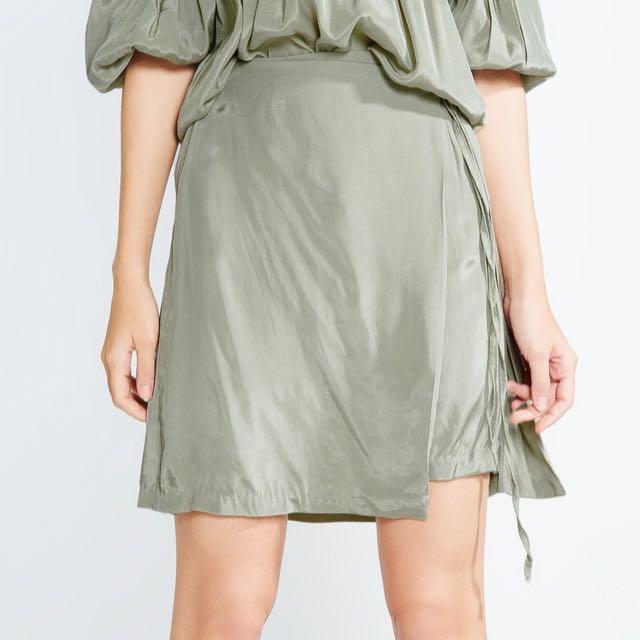 POMELO Ilya Tied Wrap Skirt