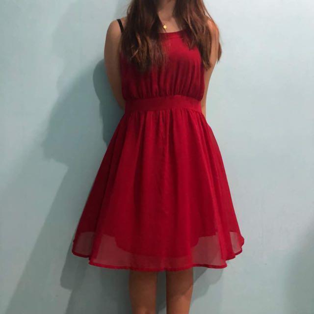 📮✔️Pre loved red dress 💕#CNY88