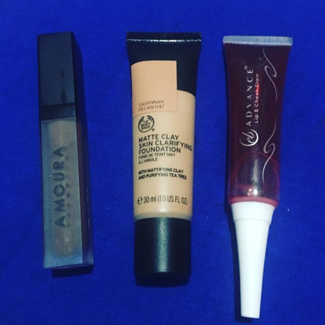 Preloved amoura, the body shop and eb advance make up