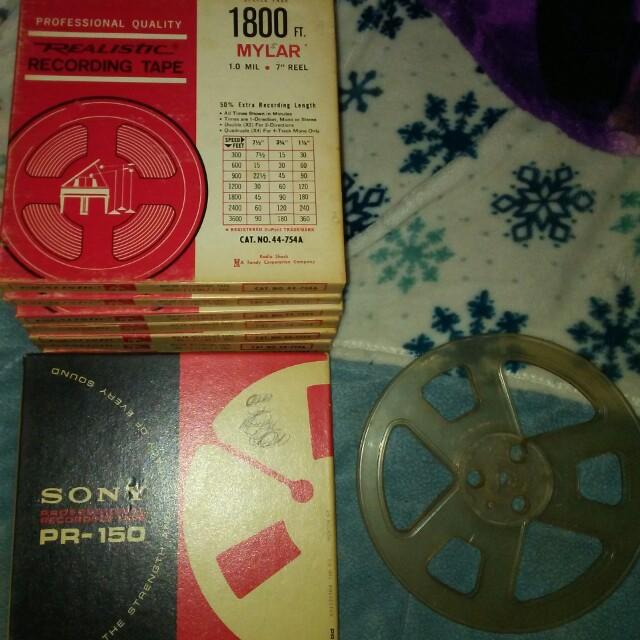Realistic recording tape set 1800 ft.