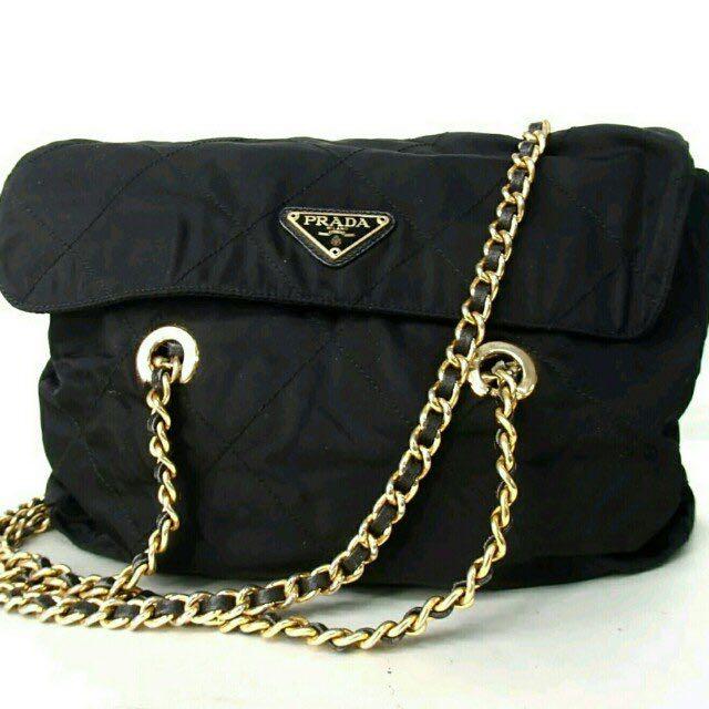 20359e371a41 ... czech authentic vintage prada chain bag womens fashion bags wallets on  carousell c70ab 1b3d2