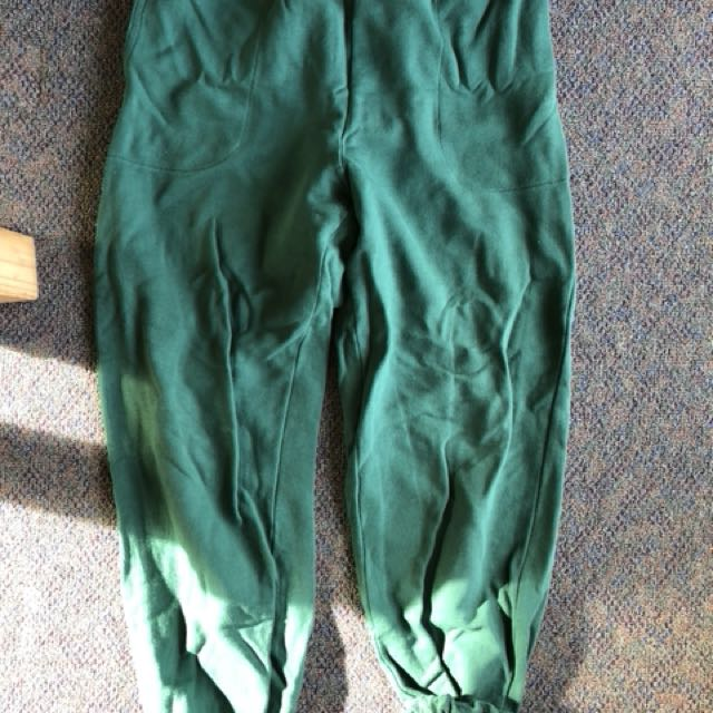 Retro green trackies