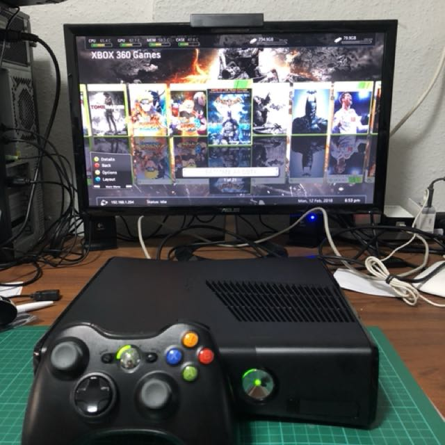 RGH / Modified Xbox 360 Slim 250Gb, Toys & Games, Video