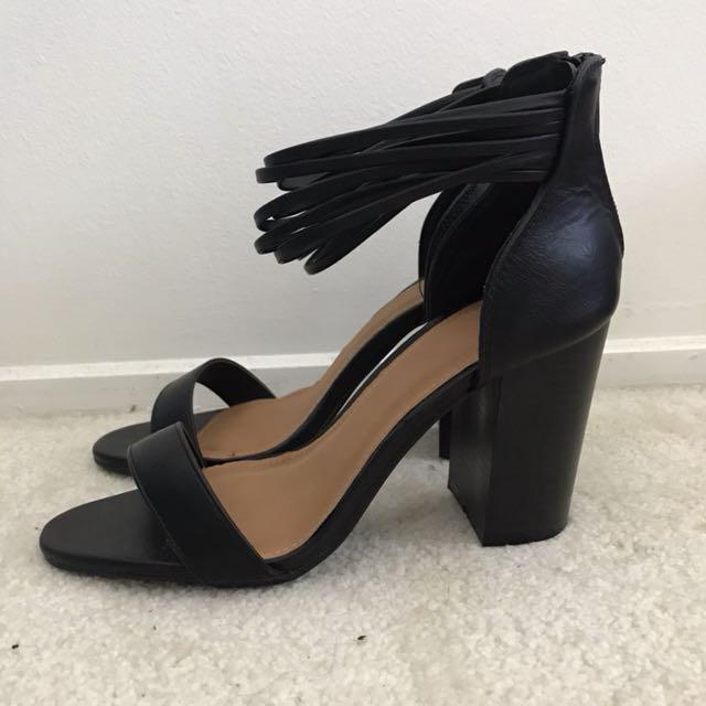 Rubi shoes black strappy heels