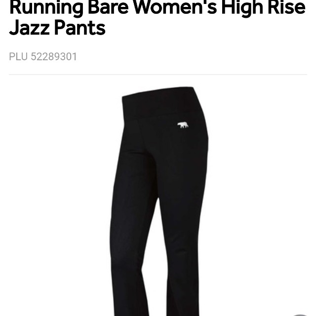 Running bare yoga pants