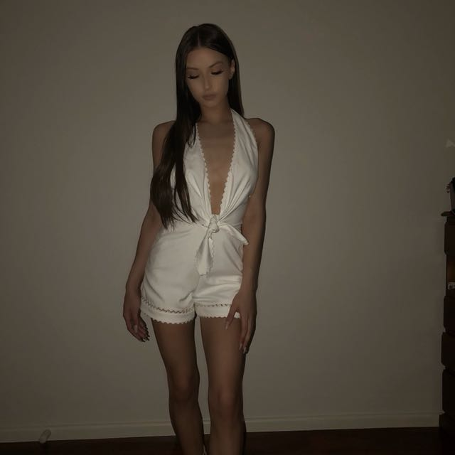 Seed Playsuit white