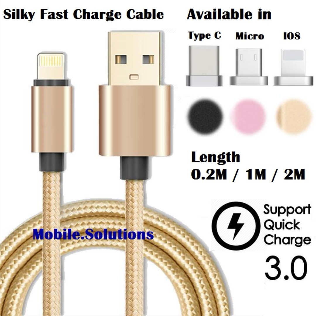 Silky Micro ★ Type C ★ Lightning IOS ★ Fast Charge Cable