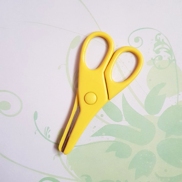 Small Kids Plastic Yellow Scissors
