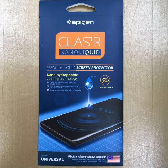 on sale 6eca4 1c31a Spigen Screen Protector GLAS.tR Nano Liquid