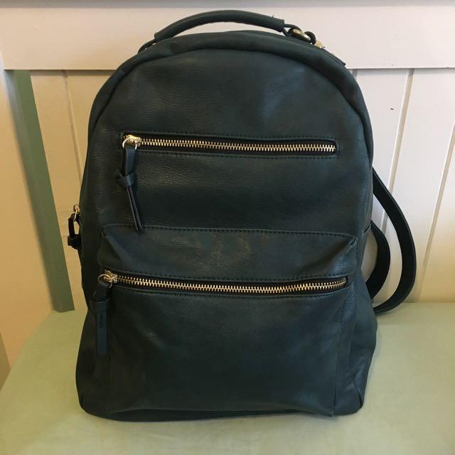 Sportsgirl forest green backpack