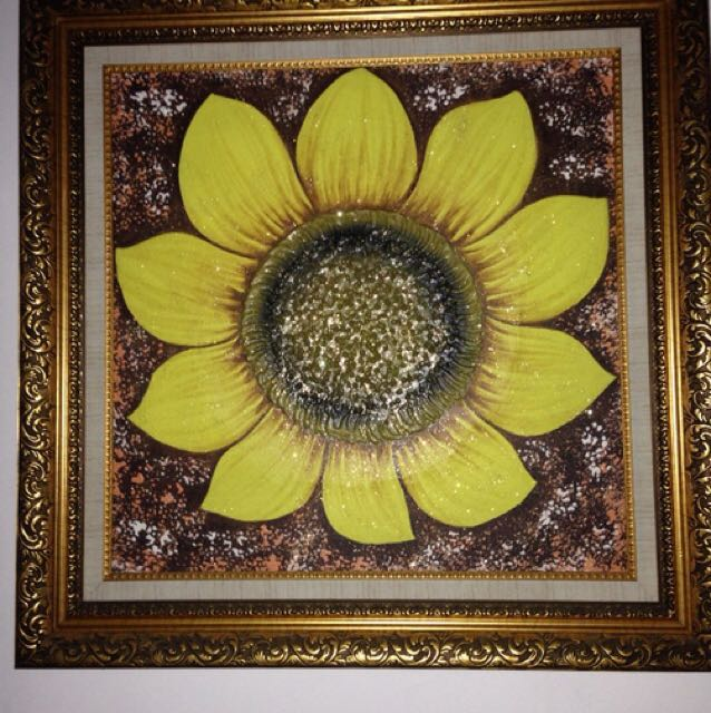 Sun Flower Painting made in Bali
