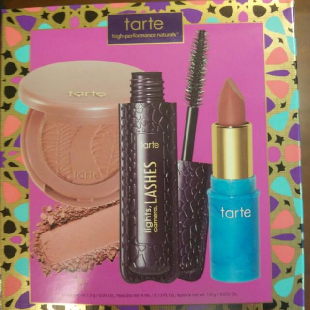 100% new Tarte Precious Picks color set (blush, lipstick & mascara)