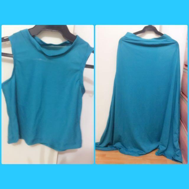 Terno Crop Top & Maxi Skirt