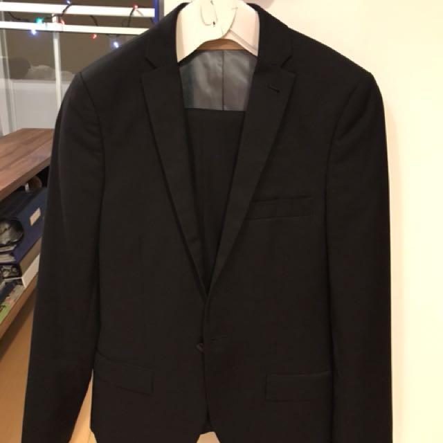 Topman Suit Black