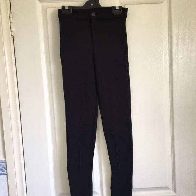 TOPSHOP black high-waisted riding pants, size 6