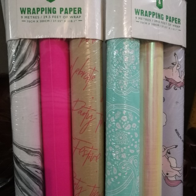 Typo Gift Wrapping Paper