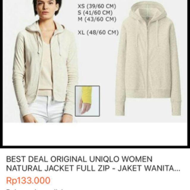 Uniqlo jaket hoodie
