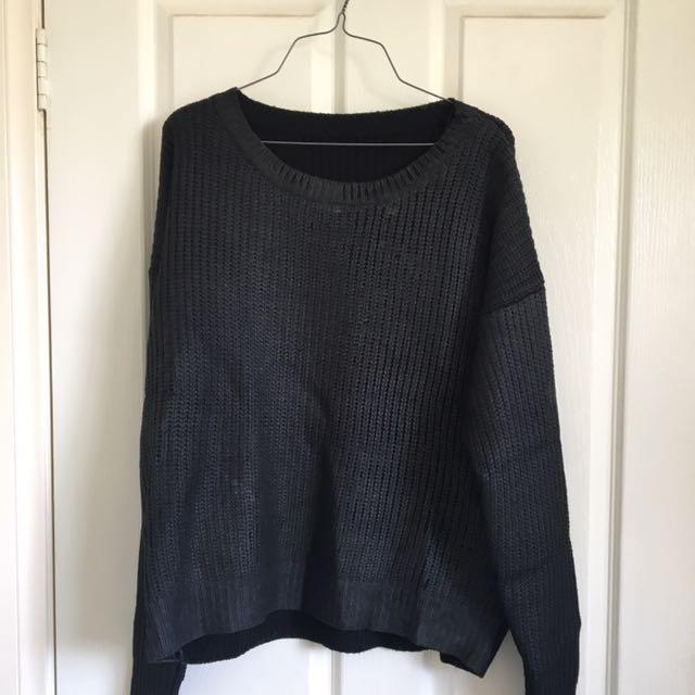VINTAGE black metallic/irridecent knit