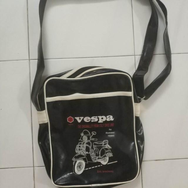 f698c3c166 Vintage Retro Vespa Flight Shoulder Bag Italy Scooter Faux Leather ...