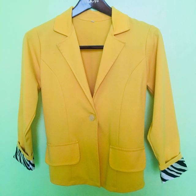 Womens Fitted Coat - Mustard