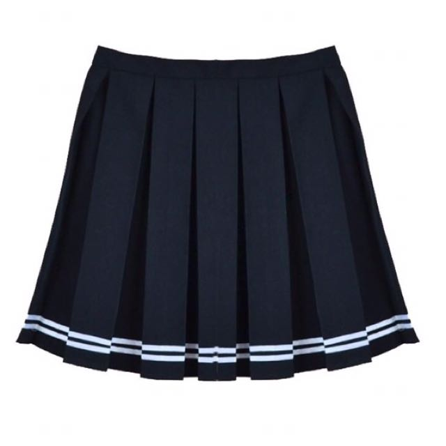 xs Black Striped Tennis Skirt