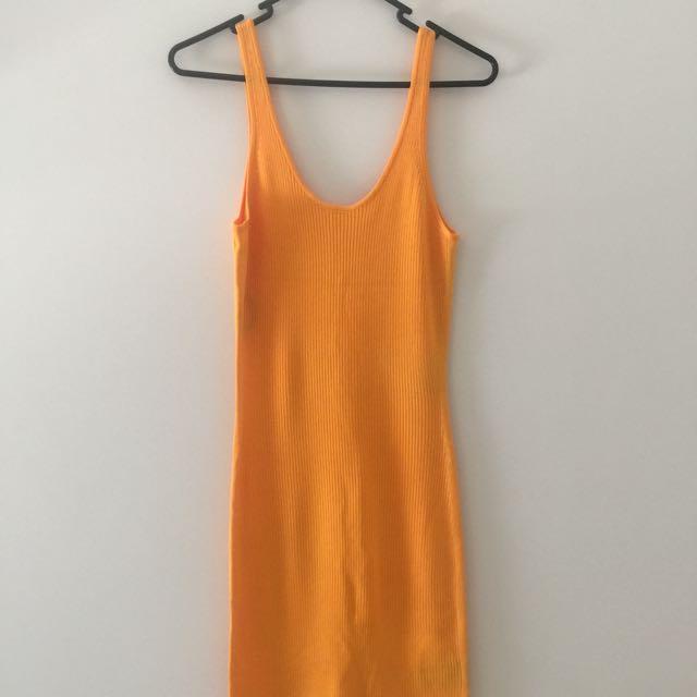 Yellow summer bodycon dress (H&M)