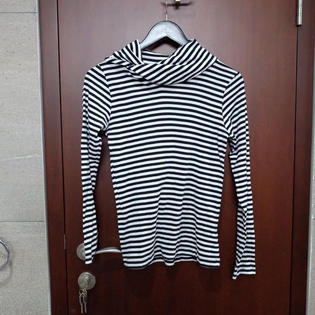 Zara striped turtle neck pullover