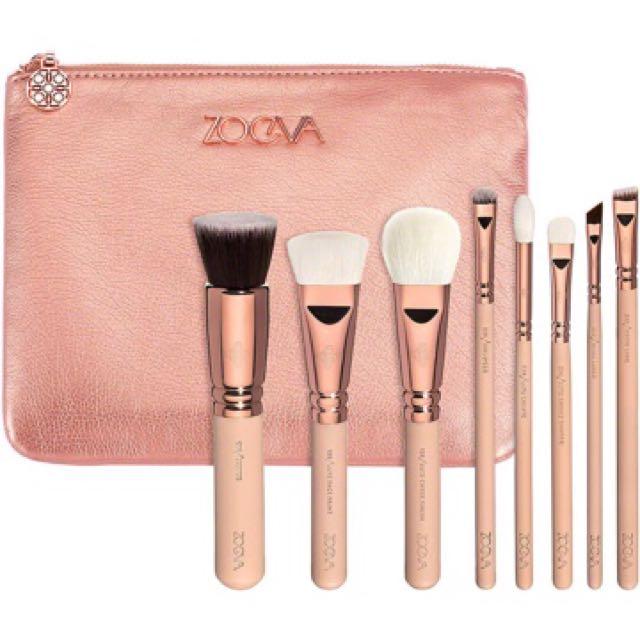 Zoeva 玫瑰金刷具8件組
