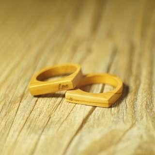 刻字木戒指