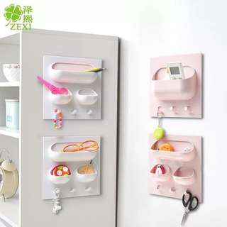 Plastic Bathroom Shelf With Hooks