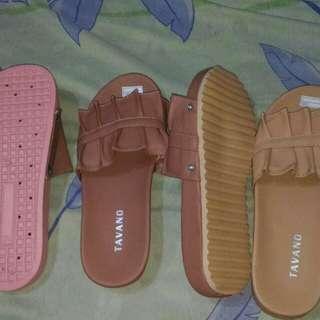 Sandal bordir & rumbai