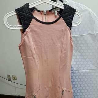bershka peach mini dress