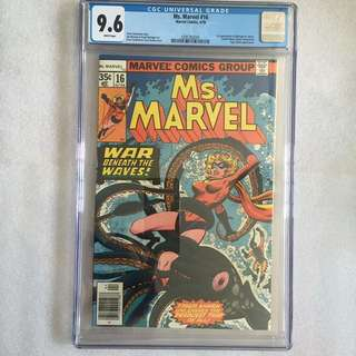 Ms Marvel 16 Cgc 9.6 ( 1st Mystique Cameo)