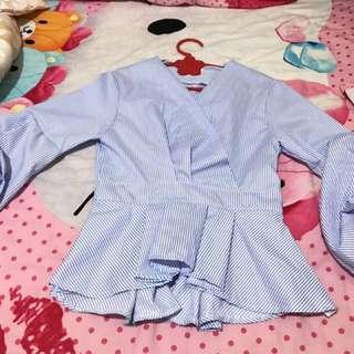 BAJU BANGKOK: Blouse Baby Blue handcarry from Bangkok