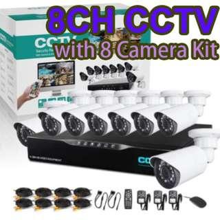 8鏡頭 閉路電視錄影套裝 CCTV 8CH DVR with 8 Camera Kit Internet camera