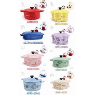 (取貨付款含運)7-11 kitty 鑄鐵鍋造型餐具 綠色