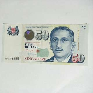 S'pore $50 with nice number