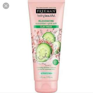 Freeman cucumber and pink salt clay mask