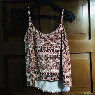 Aztec Sleeveless Top