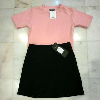 Pink basic clothes / Black skirt #CNY888