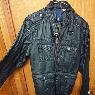 H&M leather jacket black S size