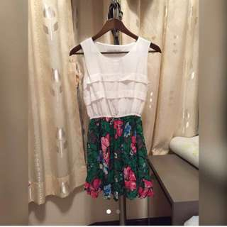 Made In Korea 綠色花裙