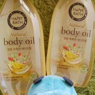 🚚 Happy bath body oil 250ml