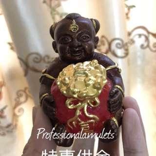 泰國佛牌佛像【特惠供金】龍婆宋猜大師 抱錢古曼童 佛牌