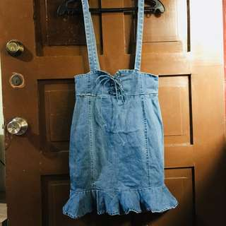 Denim Jumper Skirt