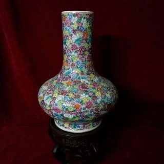 万花堆 又名百花图之天球瓶