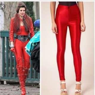 American Apparel Red Disco Pants
