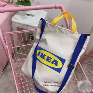IKEA Canvas Tote Sling Bag