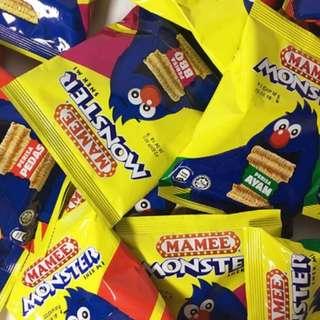 免運 馬來西亞必買 怪獸點心麵 MAMEE MONSTER 雞汁