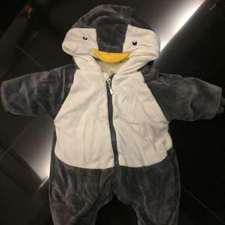 Penguin winter outer wear for 1-3 months